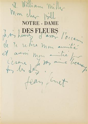 JEAN GENET (1910-1986)  Notre-Dame des Fleurs.