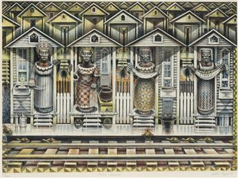 JOHN BIGGERS (1924 - 2001) Four Seasons.