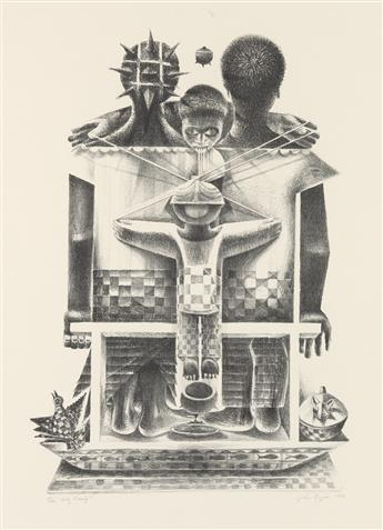 JOHN BIGGERS (1924 - 2001) Holy Family.
