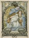 ALPHONSE MUCHA (1860-1939) [ILSÉE PRINCESSE DE TRIPOLI.] 1897. 138 hand-colored proofs. Bound in two ornate, silk-covered albums, all e