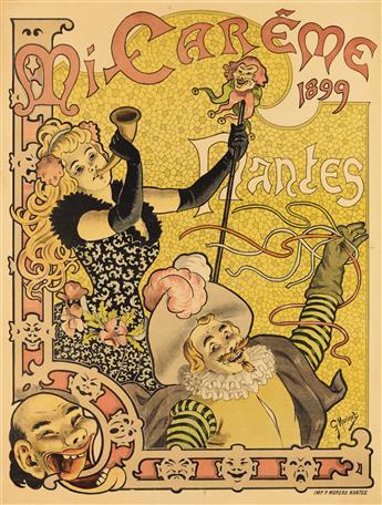 G. MORINET (DATES UNKNONW). MI - CARÊME / NANTES. 1899. 48x36 inches, 123x93 cm. P. Moreau, Nantes.
