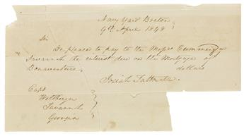 (GEORGIA.) Papers of the Wiltberger family of Savannah, relating to slavery, the Civil War, Bonaventure Cemetery, and more.