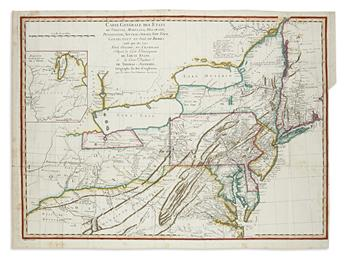 EVANS, LEWIS. Carte Generale des Etats de Virginie, Maryland, Delaware, Pensilvanie,