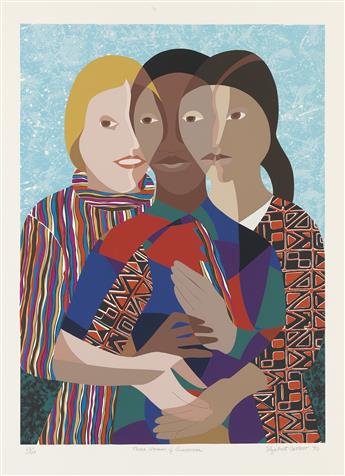 ELIZABETH CATLETT (1915 - 2012) Three Women of America.