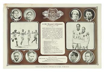 (SPORT--TRACK.) Xth Olympiad Achievement Los Angeles, U.S.A. 1932.