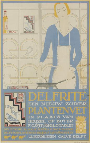 LOUIS C. KALFF (1897-1976). DELFRITE / PLANTENVET. Circa 1926. 24x15 inches, 62x39 cm. Senefelder, Amsterdam.