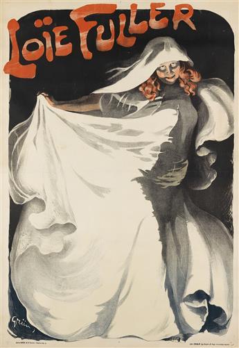JULES-ALEXANDRE GRÜN (1868-1938). LOÏE FULLER. 1901. 62x42 inches, 157x108 cm. Chaix, Paris.