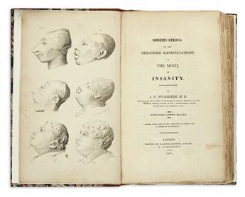SPURZHEIM, JOHANN CASPAR. Observations on the Deranged Manifestations of the Mind.  1817