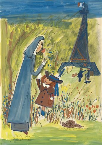 CHILDRENS LUDWIG BEMELMANS. Sketch for Madeline.