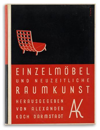 (DESIGN.) Koch, Alexander. Einzelmöbel und Neuzeitliche Raumkunst.