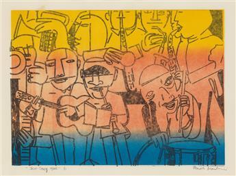 ROMARE BEARDEN (1911 - 1988) Jazz-Savoy 1930s.