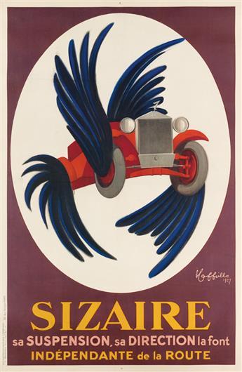 LEONETTO CAPPIELLO (1875-1942). SIZAIRE. 1927. 76x49 inches, 193x125 cm. Devambez, Paris.