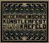 NIEDERRHEINISCHES KUNSTERLFEST / KREFELD. 1905. 29x35 inches. Kleinson, Krefeld.