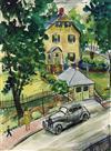 ALLAN ROHAN CRITE (1910 - 2007) Untitled (Backyard Scene).