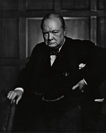 KARSH, YOUSUF (1908-2002) Winston Churchill.