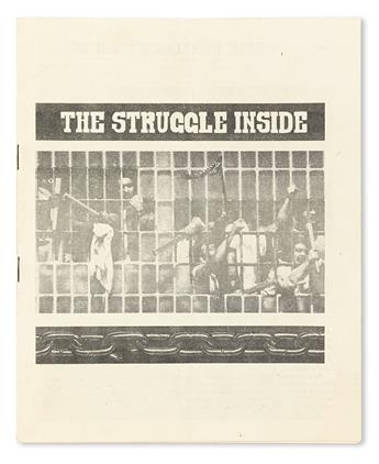 (CIVIL RIGHTS.) PRISON REFORM [RUCHELL MAGEE, ET AL]. The Struggle Inside (cover title) The Prison System.