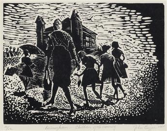 JOHN BIGGERS (1924 - 2001) Birmingham... Children of the Morning.
