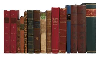 PSYCHIATRY--FRENCH AUTHORS.  Group of 16 works in 15 volumes.  1765-1845