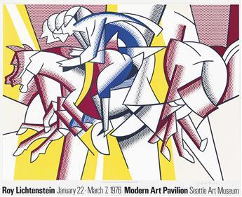 ROY LICHTENSTEIN (1923-1997). ROY LICHTENSTEIN / SEATTLE ART MUSEUM. 1976. 22x27 inches, 56x70 cm.