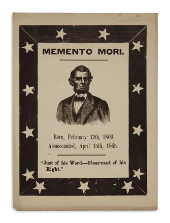 (PRINTS--MEMORIAL.) Memento Mori . . . Just of his Word--Observant of his Right.