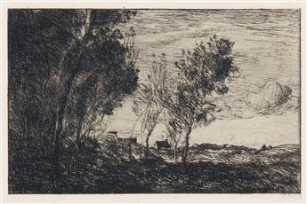 JEAN-BAPTISTE-CAMILLE COROT Dans les Dunes, Souvenir du Bois de la Haye.