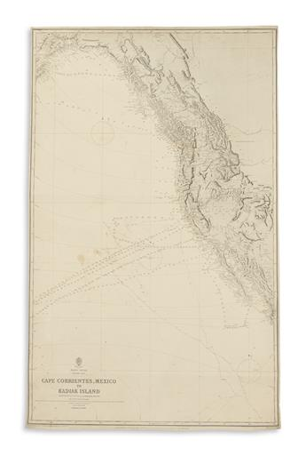 BRITISH HYDROGRAPHIC OFFICE. Pacific Ocean, Eastern Part. Cape Corrientes, Mexico to Kadiak Island.
