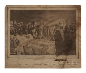 (PRINTS--ASSASSINATION.) Gardner, Alexander, photographer. The Last Moments of Lincoln, 15th April, 1865.