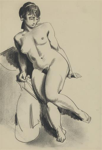 GEORGE BELLOWS Nude on Bed.