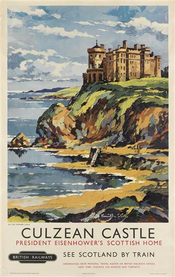 KENNETH SLIL (DATES UNKNOWN). CULZEAN CASTLE. 1955. 40x25 inches, 102x63 cm. Jarrold and Sons Limited, Norwich.