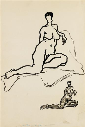 JOSEPH DELANEY (1904 - 1981) Untitled (Two Nudes).