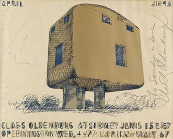 CLAES OLDENBURG (1929- ). CLAES OLDENBURG AT SIDNEY JANIS. 1967. 22x28 inches, 56x71 cm.