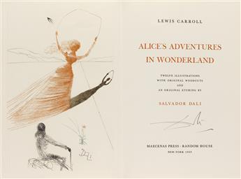 (DALÍ, SALVADOR.) Carroll, Lewis. Alices Adventures in Wonderland.