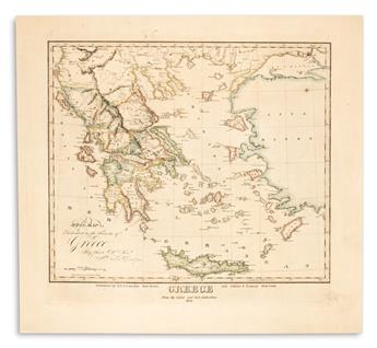 (GREECE.) Jocelyn, N. & S.S. Greece From the Latest and Best Authorities 1824.