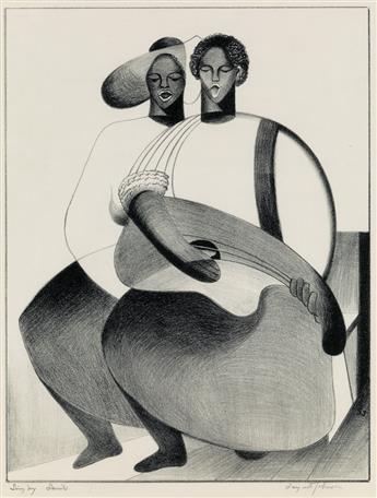 SARGENT JOHNSON (1888 - 1967) Singing Saints.