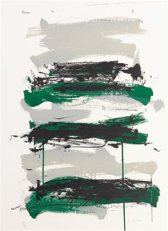 JOAN MITCHELL Champs (Black, Gray and Green).