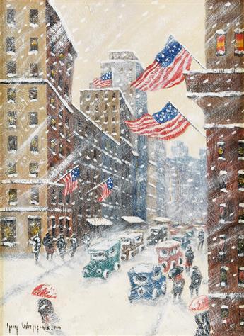 GUY C. WIGGINS Fifth Avenue Storm.