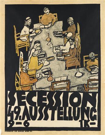 EGON SCHIELE (1890-1918). SECESSION 49. AUSSTELLUNG. 1918. 26x20 inches, 67x52 cm. Alb. Berger, Vienna.