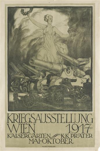 JOSEF VON DIVEKY (1887-1951). KRIEGSAUSSTELLUNG WIEN. 1917. 37x24 inches, 95x62 cm. J. Weiner, Vienna.
