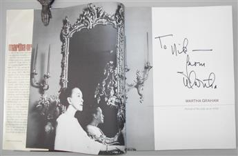 GRAHAM, MARTHA. Leroy Leatherman. Portrait of the Lady as an Artist. Inscribed and Signed, Martha, on half-title,