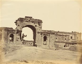 BEATO, FELICE (1832-1909) Group of 34 early photographs of Delhi, Agra, and Lucknow at the time of the Sepoy Mutiny, in India.