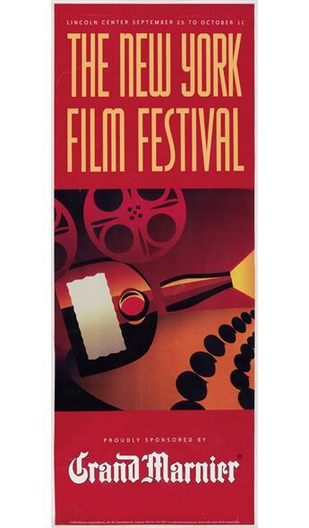 HEATH IVAN HEWETT (DATES UNKNOWN). THE NEW YORK FILM FESTIVAL / GRAND MARNIER. 1998. 59x23 inches, 150x60 cm. Marnier-Lapostolle Inc.,