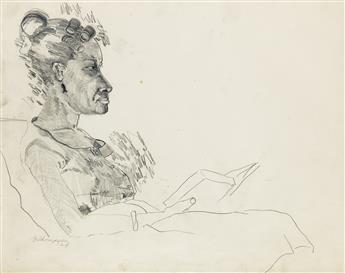 BOB THOMPSON (1937 - 1966) Untitled (Seated Woman Reading).