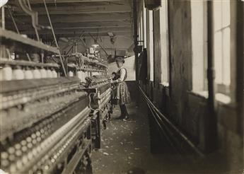 LEWIS W. HINE (1874-1940) This little spinner has been in the mill 4 years.