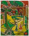 BEAUFORD DELANEY (1901 - 1979) Untitled (Washington Square Park).