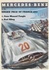 HANS LISKA (1907-1983). MERCEDES-BENZ / GRAND PRIX OF FRANCE. 1954. 11x8 inches, 30x21 cm.