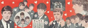 DESIGNER UNKNOWN. [THE BEATLES.] 1964. 17x53 inches, 43x134 cm. [Dell Publishing Co, Inc., New York.]