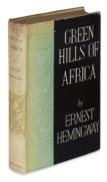 HEMINGWAY, ERNEST. Green Hills of Africa.