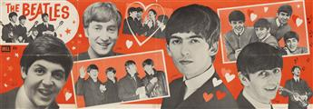 DESIGNER UNKNOWN. THE BEATLES. 1964. 18x53 inches, 47x135 cm. Dell Publishing Co, Inc., [New York.]