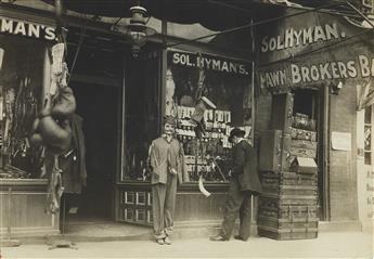 LEWIS W. HINE (1874-1940) Pawn-broker's shop in a disreputable district, Nashville, Tenn.