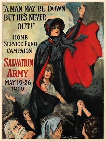 VARIOUS ARTISTS. [WORLD WAR I / WOMEN & CHILDREN.] Group of 14 posters. Circa 1919. Sizes vary.
